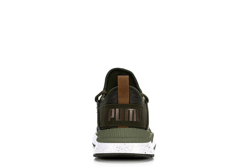 PUMA Womens Pacer Next Cage Met Speckle - OLIVE