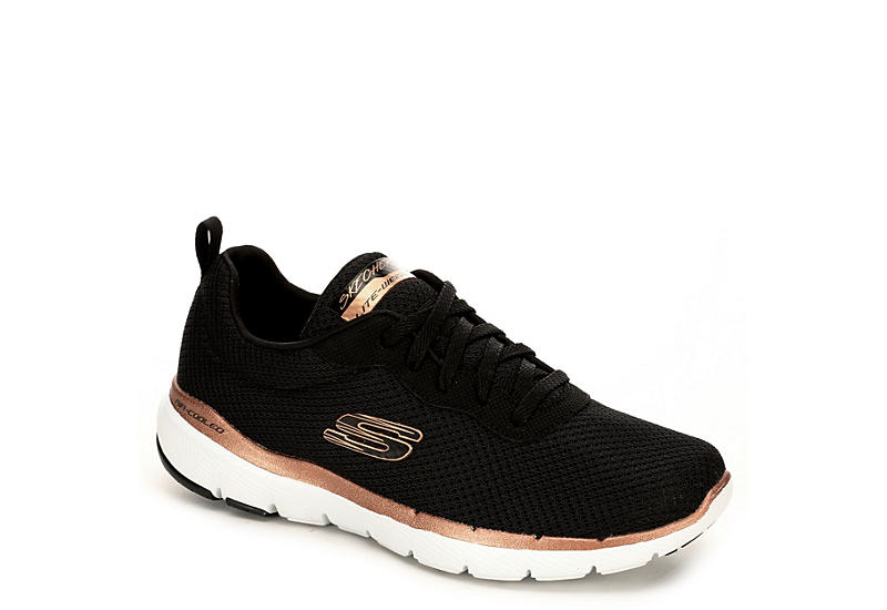 40046be1933d Black Skechers Flex Appeal 3.0 Women s Sneakers