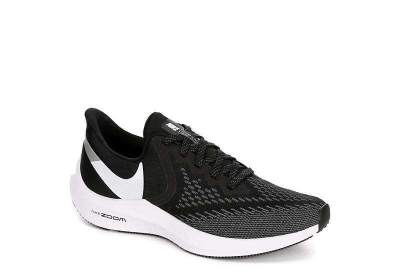 NIKE Womens Zoom Winflow 6 Running Shoe - BLACK