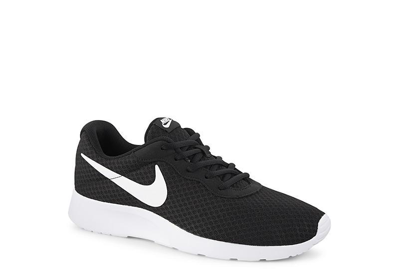 Black White Nike Tanjun Men S Running Shoes Rack Room Shoes