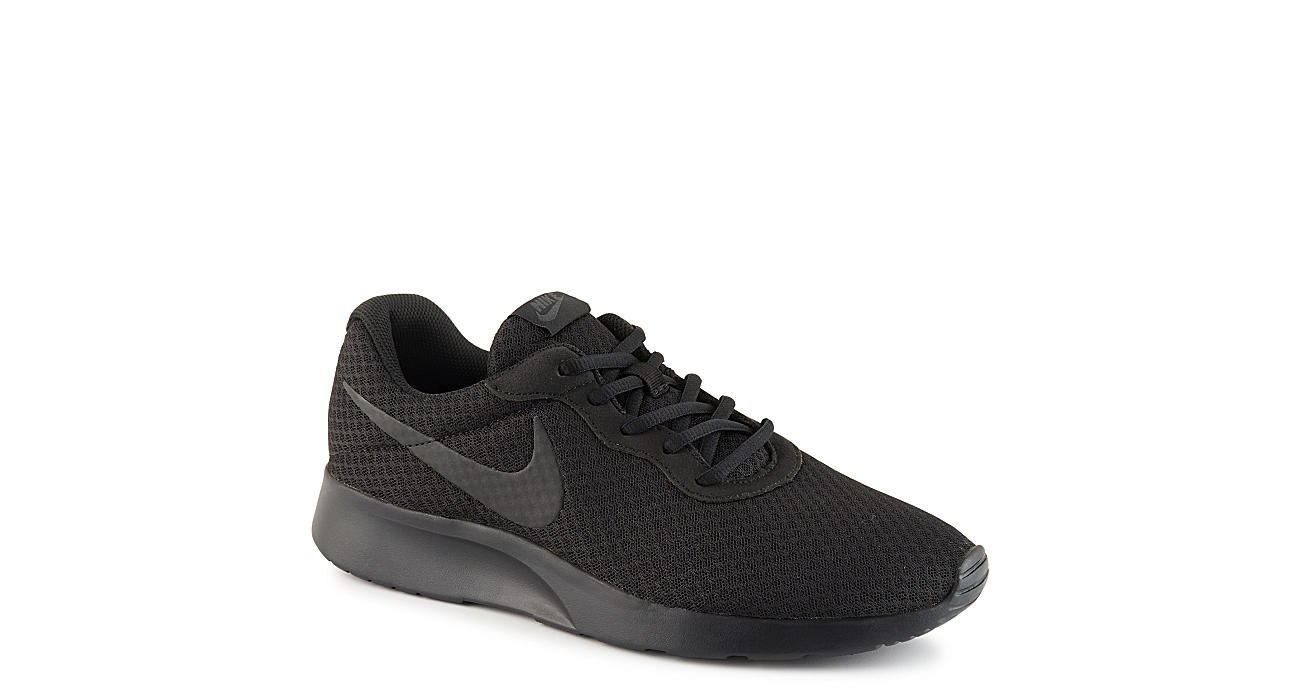 basura reflujo Mucama  All Black Nike Tanjun Men's Running Shoes | Rack Room Shoes