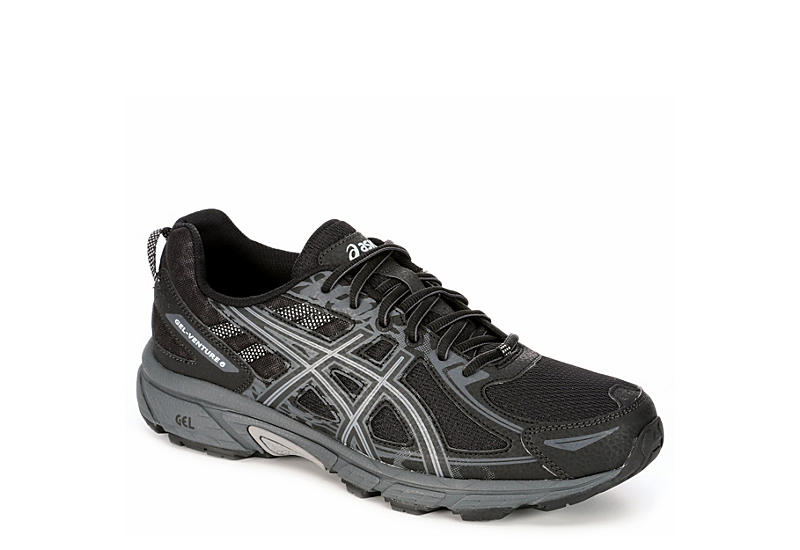 0c04450a BLACK ASICS Mens Gel Venture 6