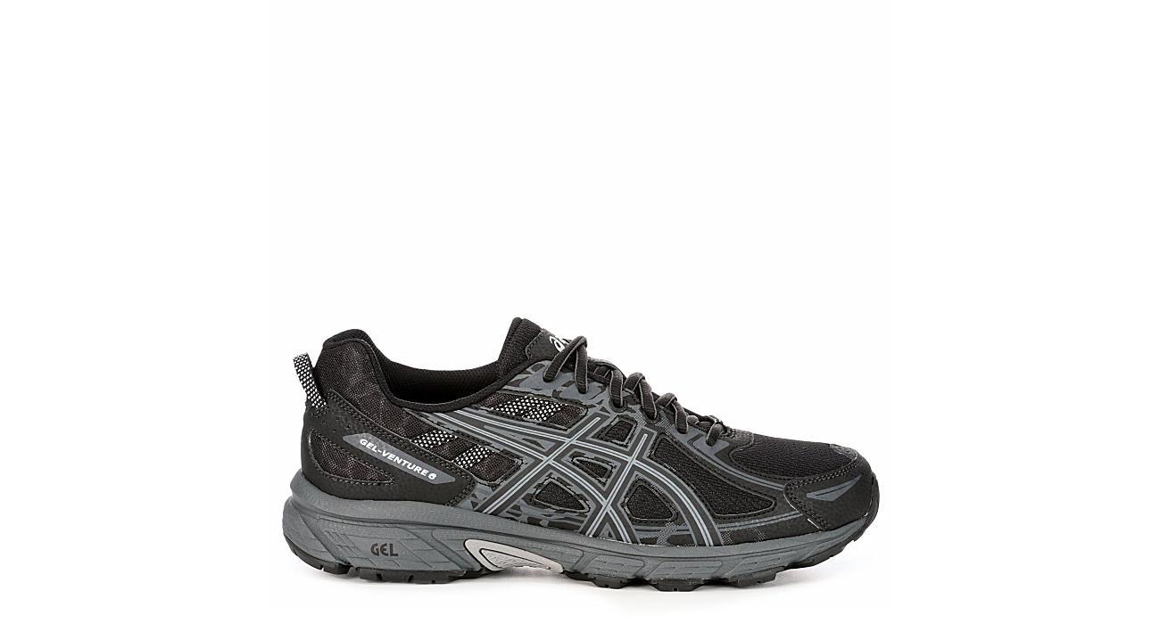 Black ASICS GEL-Venture 6 Men's Running Shoes | Rack Room