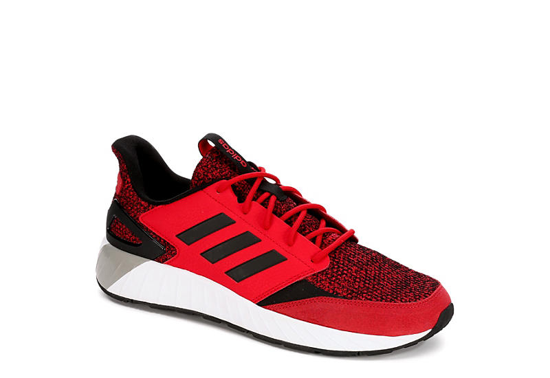 super popular d9a54 fdba0 Adidas Mens Questarstrike - Red