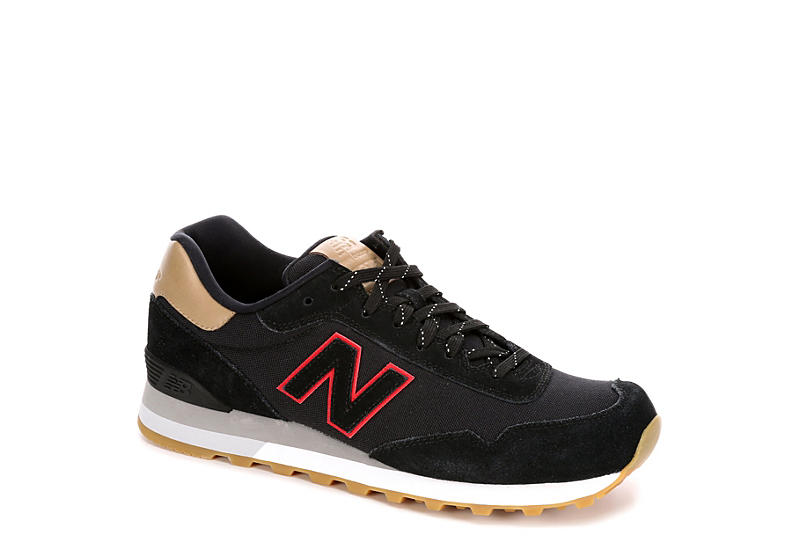 8008b991cebd2 Black New Balance ML515 Men's Retro Sneakers | Rack Room Shoes