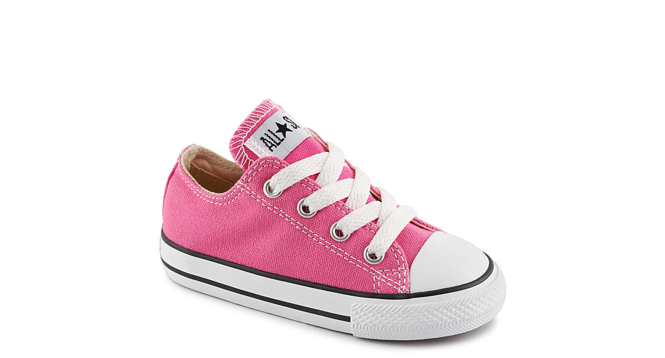 Baby converse all star pink and black size 4