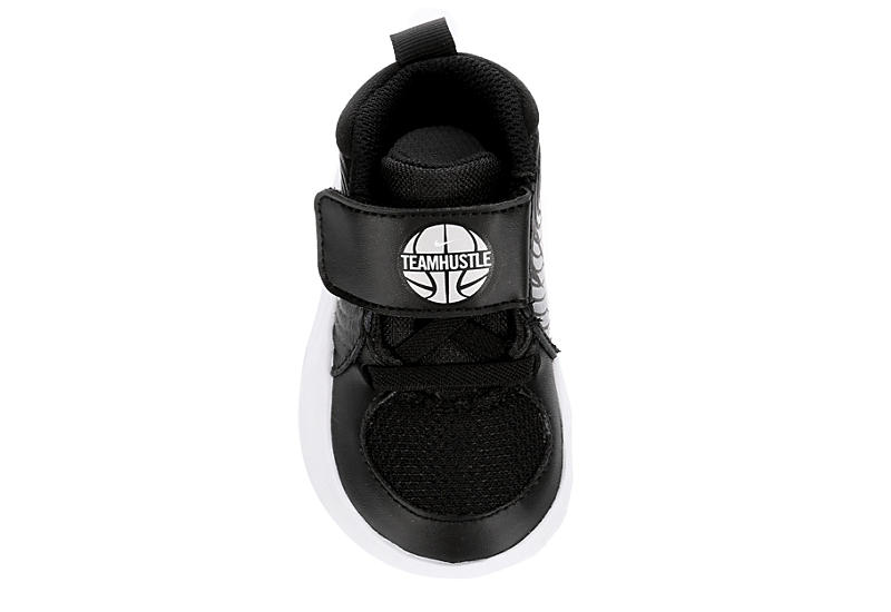 NIKE Boys Infant Team Hustle D9 Slip On Basketball Shoe - BLACK