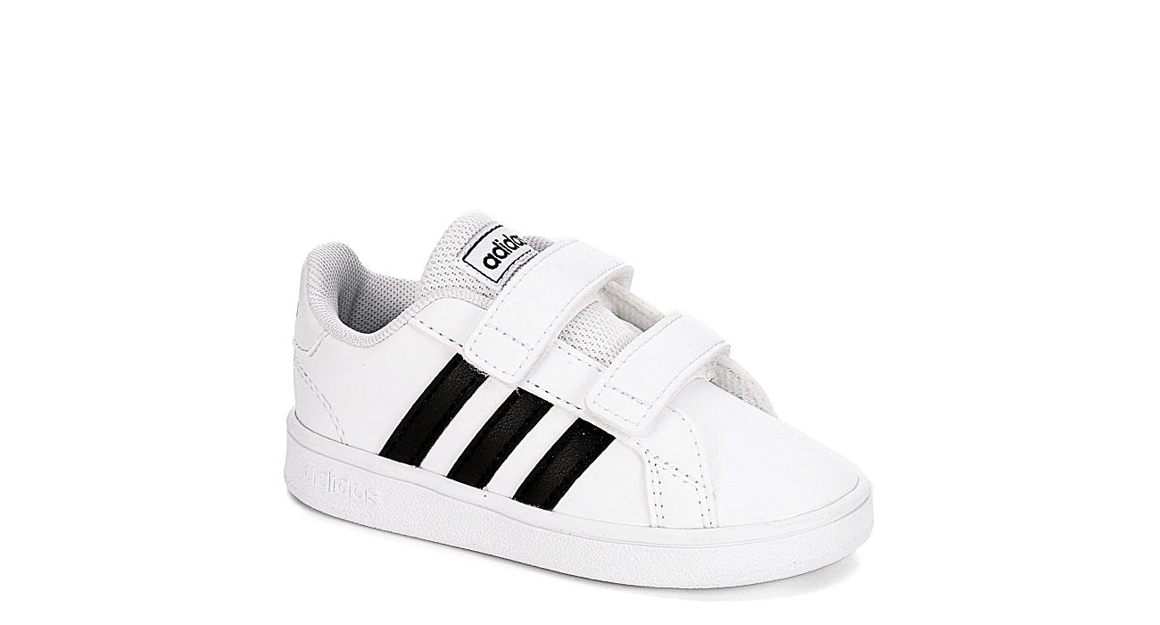 ADIDAS Boys Infant Grand Court Slip On Sneaker - WHITE
