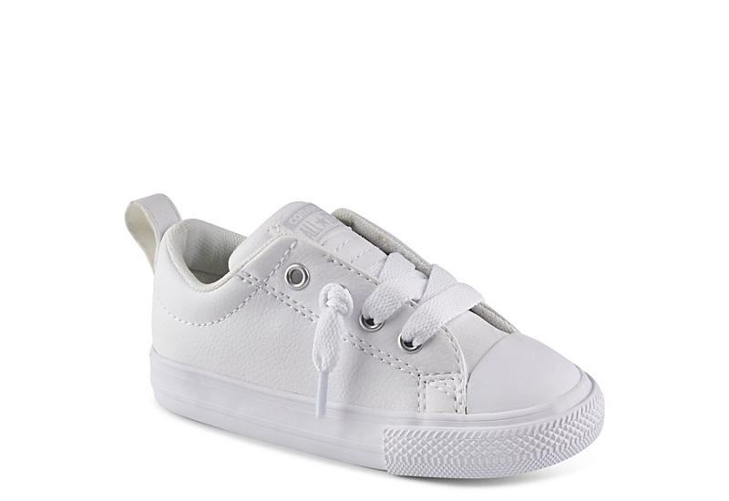 CONVERSE Boys Chuck Taylor All Star Street Ox Leather - WHITE