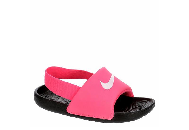 PINK NIKE Girls Infant Kawa Slide Sandal
