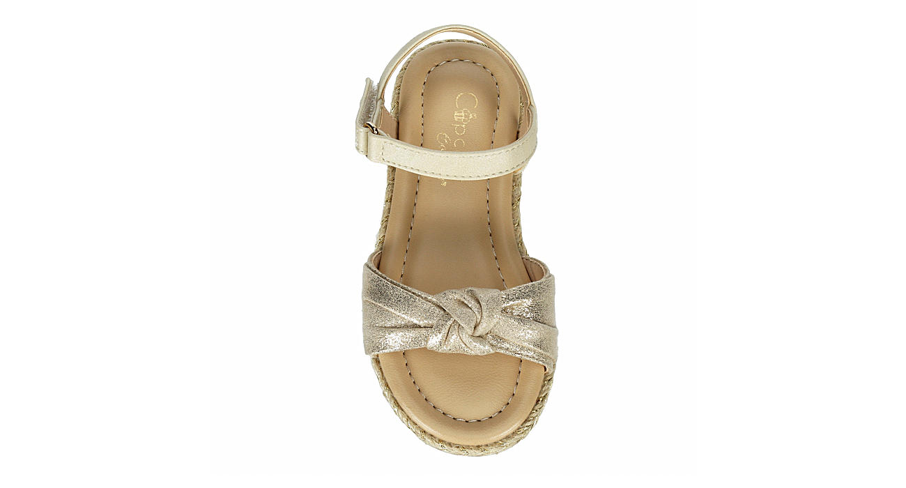 CUPCAKE COUTURE Girls Infant Knotty Sandal - BEIGE