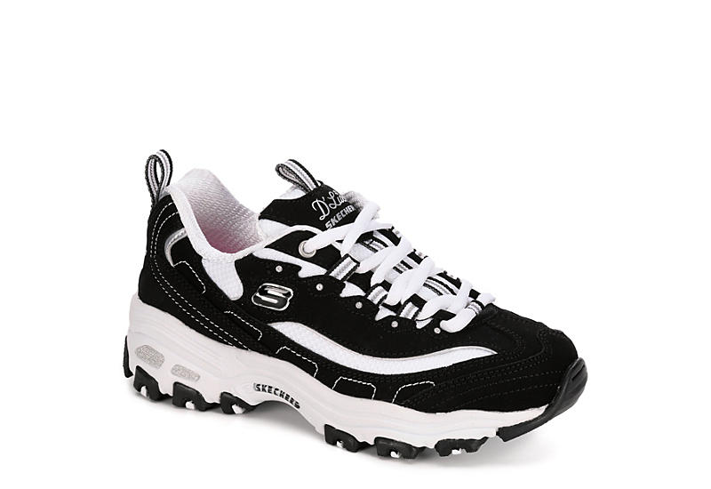 SKECHERS Girls Dlites - BLACK