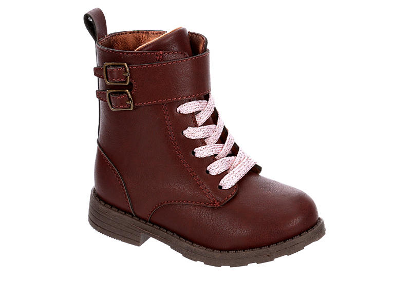 CARTERS Girls Infant Blaire Combat Boot - BROWN