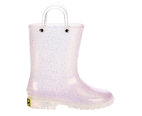Girls Glitter Pvc Rain Boot