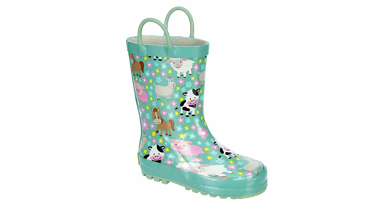 WESTERN CHIEF Girls Infant Farm Cutie Rain Boot - PINK