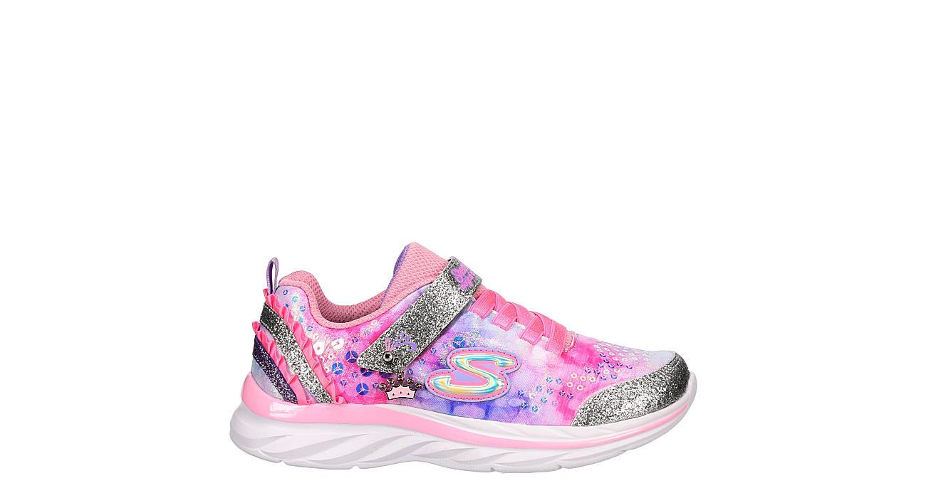 SKECHERS Girls Infant Quick Kicks - Lil Princess Sneaker - PINK