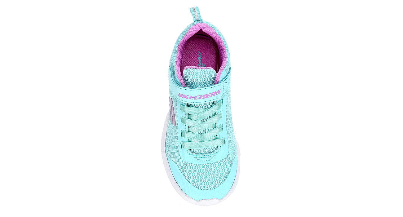 SKECHERS Girls Infant Dyna-lite Sneaker - AQUA