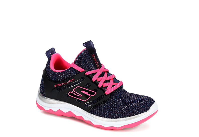 SKECHERS Girls Diamond Runner - NAVY