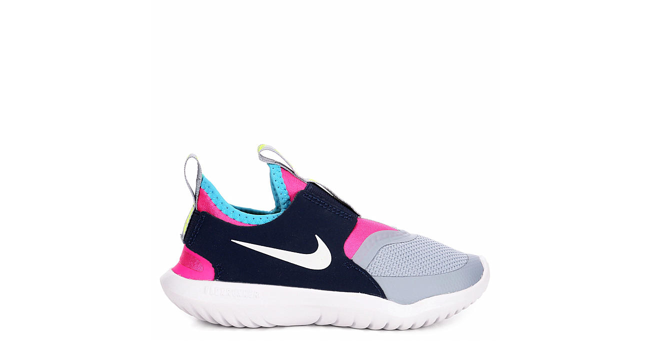 NIKE Girls Flex Runner Slip On Sneaker - GREY