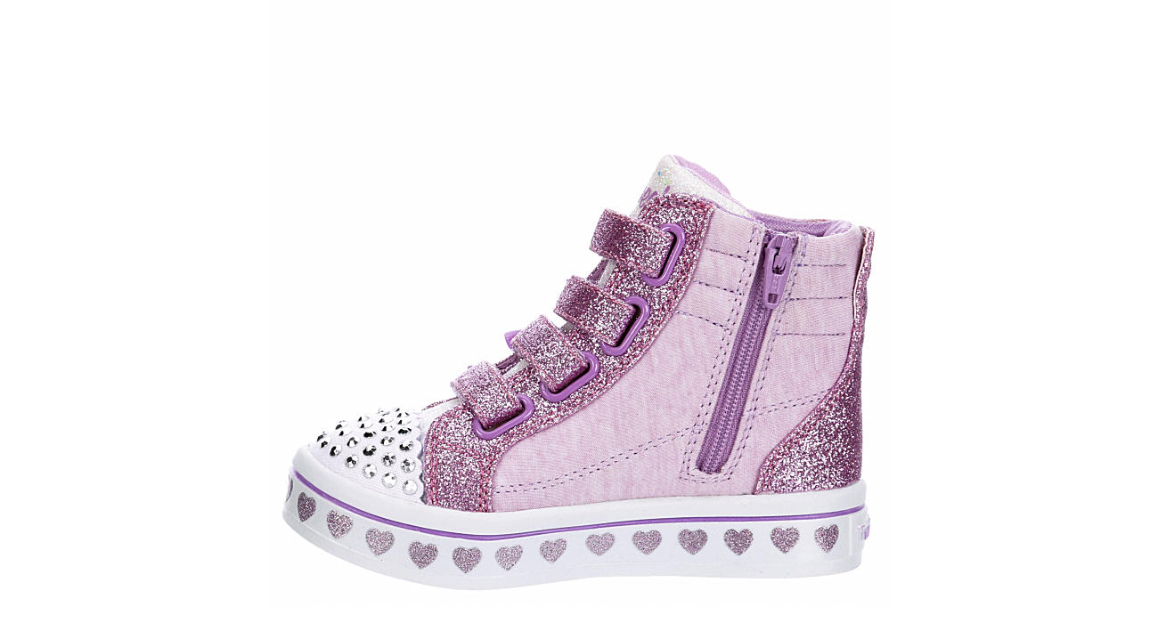 SKECHERS Girls Infant Twi-lites Light Up Sneaker - PURPLE