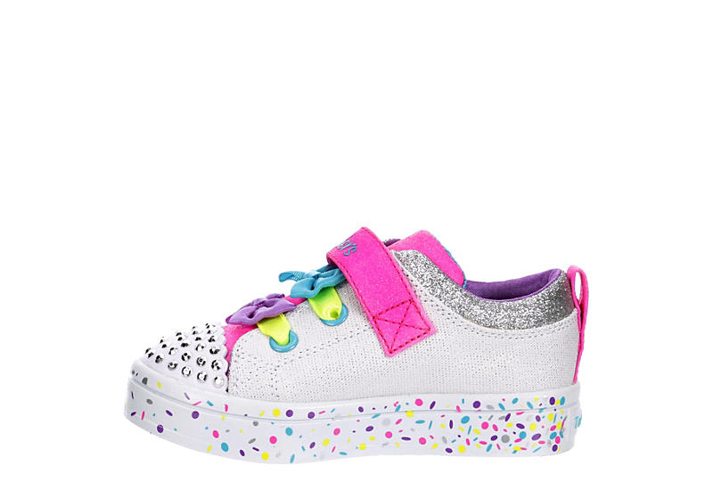 SKECHERS Girls Twi-lites - WHITE