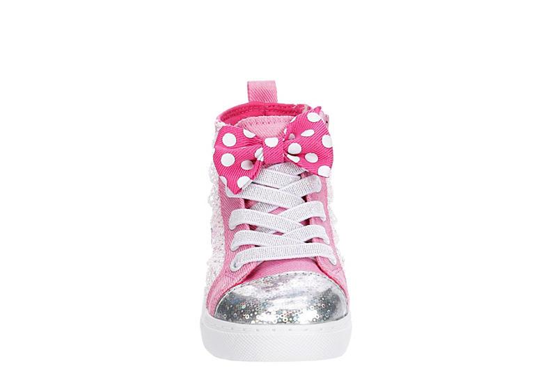 DISNEY Girls Infant Minnie High Top Sneaker - PINK
