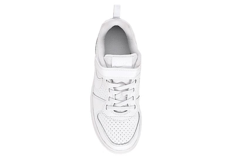 NIKE Boys Court Borough Low Top Sneaker - WHITE