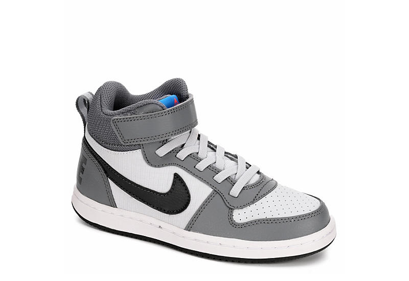 NIKE Boys Court Borough Mid Ps - GREY
