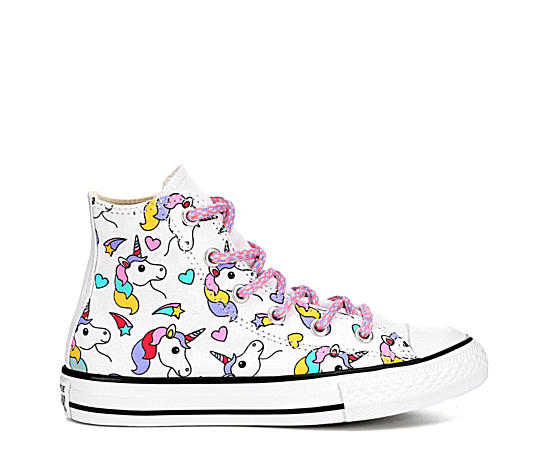 Girls Chuck Taylor All Star Rainbow Hi Top Sneaker