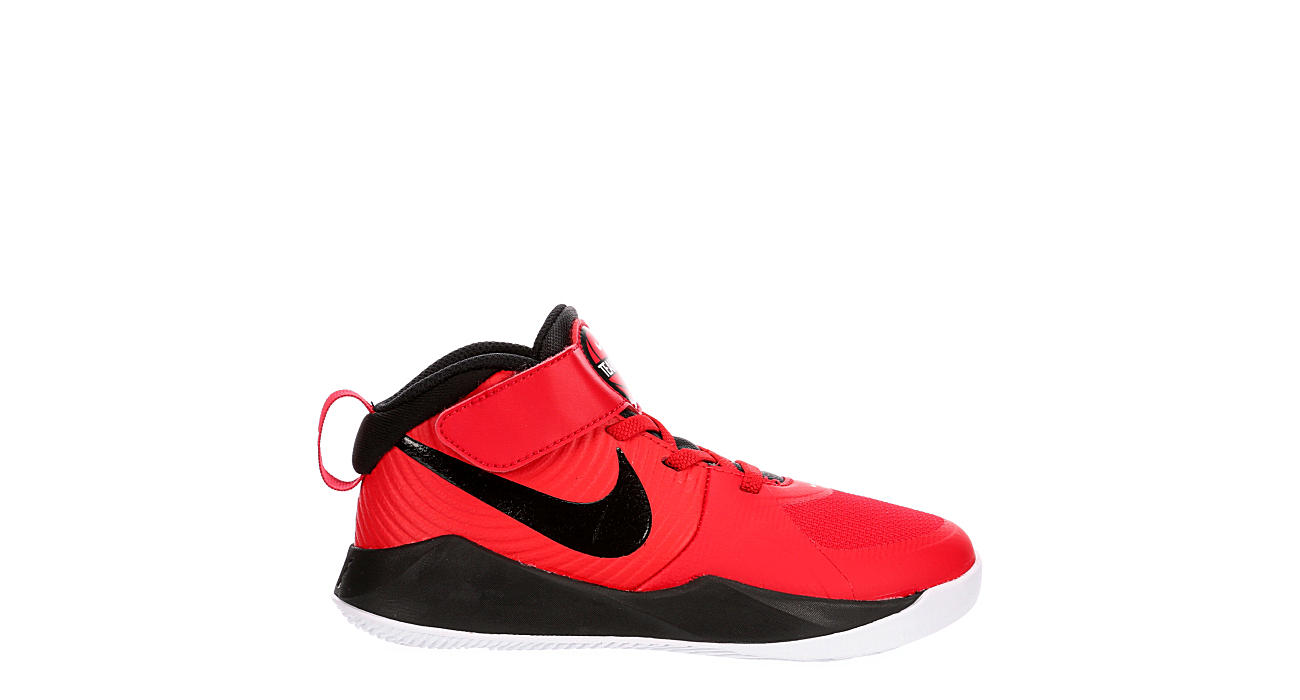 NIKE Boys Team Hustle D9 High Top Basketball Shoe - RED