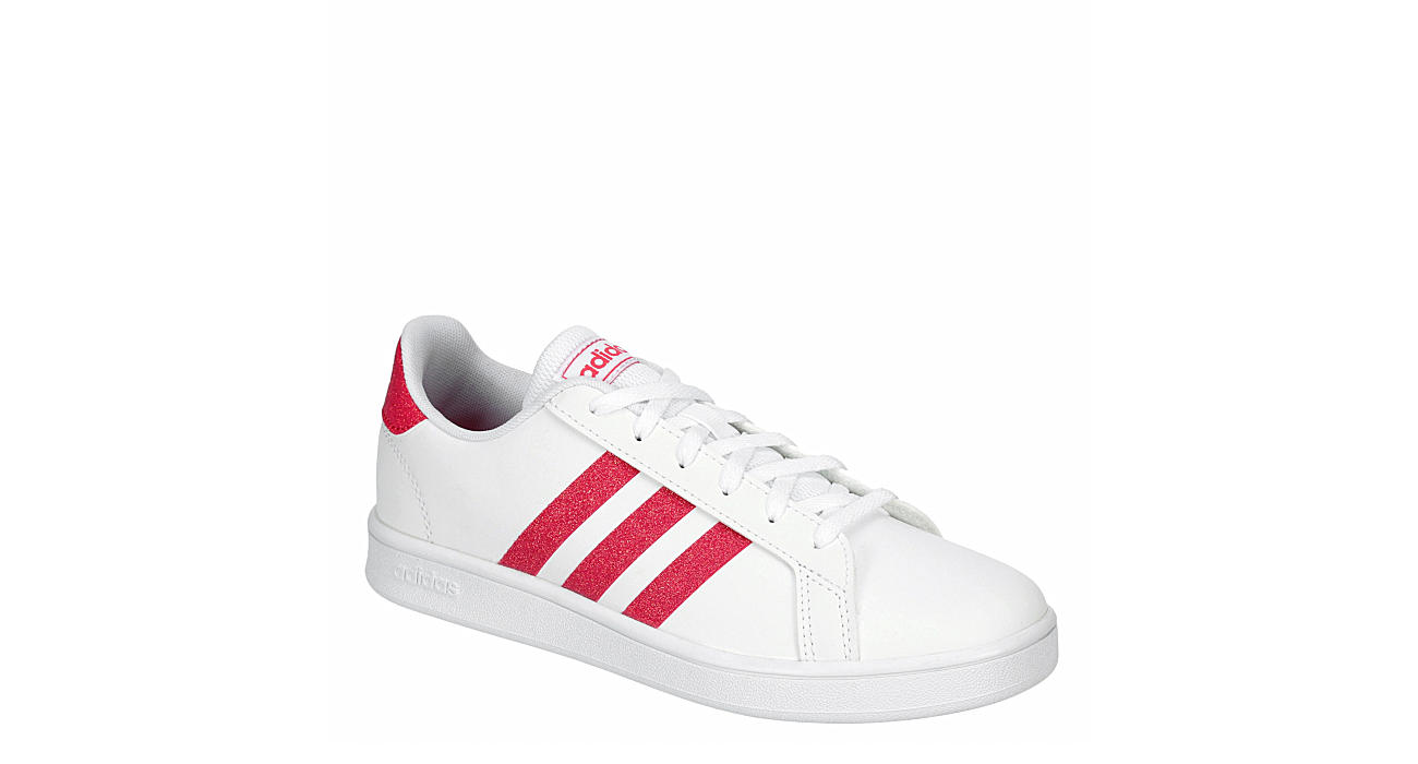ADIDAS Girls Grand Court Sneaker - WHITE