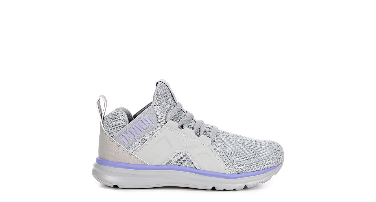 PUMA Girls Enzo Glitz Jr - GREY