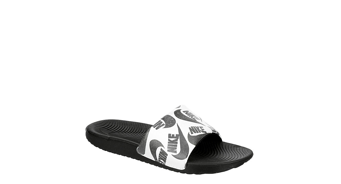 NIKE Boys Kawa Slide Sandal - WHITE