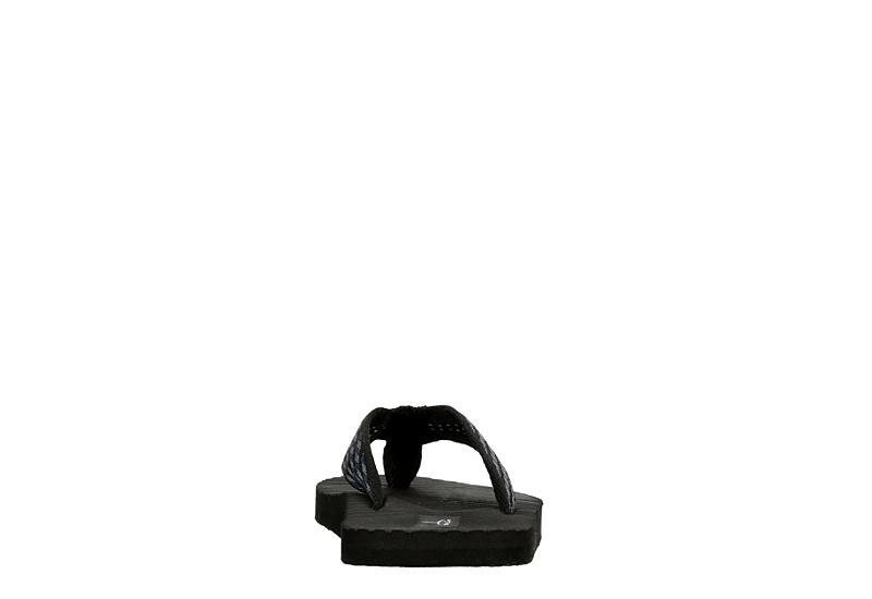 BLUEFIN Boys Ripple Flip Flop Sandal - BLACK