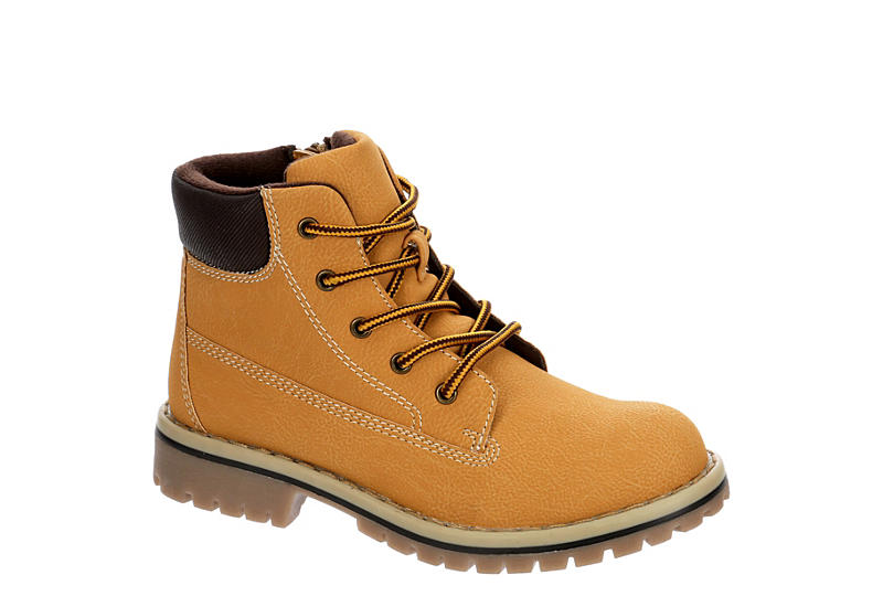 HIGHLAND CREEK Boys Hickory Lace-up Boot - CAMEL