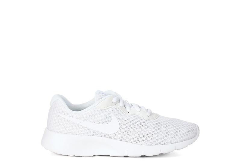 NIKE Girls Tanjun Sneaker - WHITE