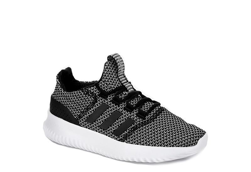black adidas boys cloudfoam ultimate black and white rack stanza scarpe