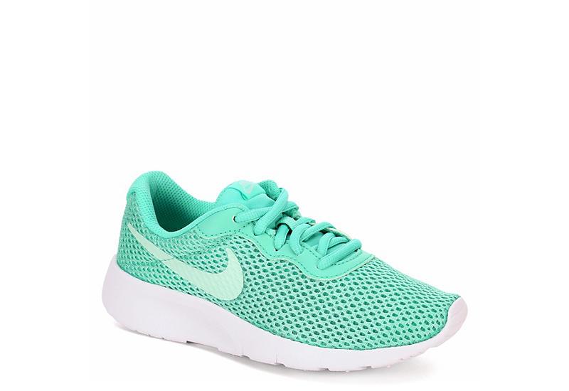 1b347cea9678 Mint Nike Tanjun Girls  Mesh Running Shoes