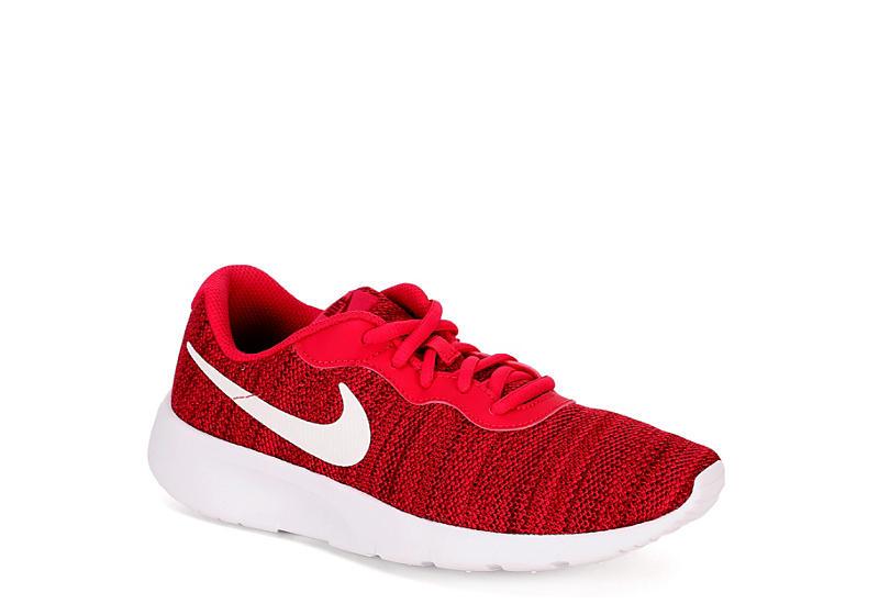 fa2fb09c3b5 Red   Fuscia Nike Tanjun Girls  Casual Sneakers