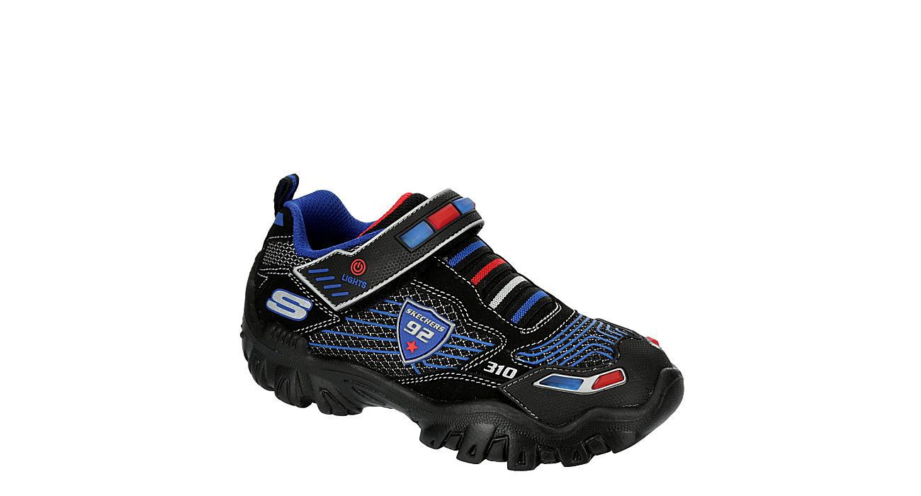 SKECHERS Boys Damager Iii Light Up Sneaker - BLACK