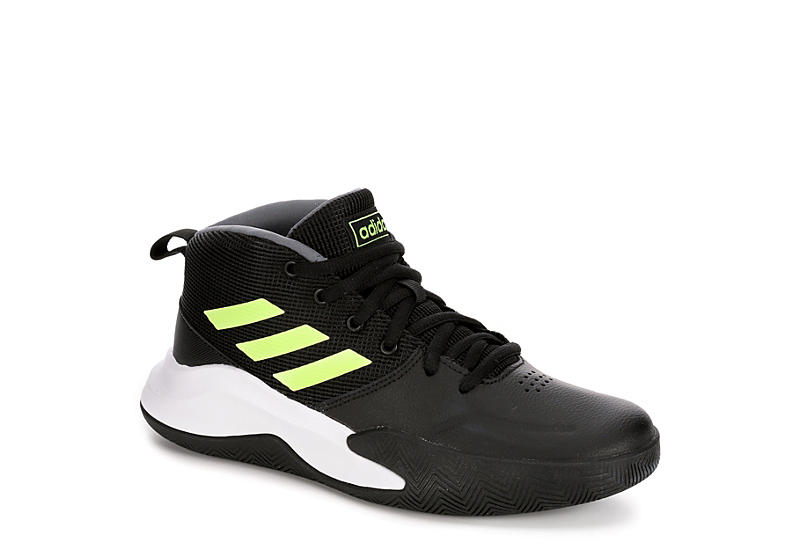 ADIDAS Boys Own The Game High Top Basketball Shoe - BLACK