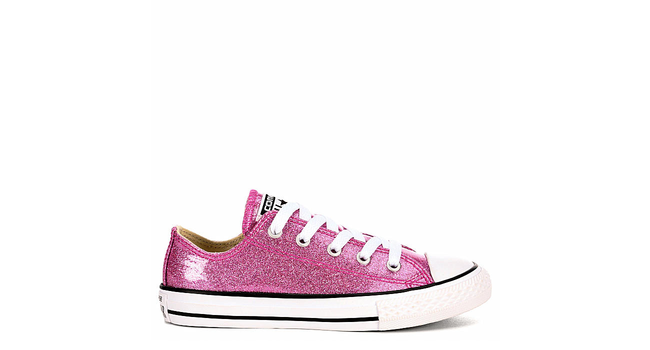Converse Girls Chuck Taylor All Star Glitter Ox - Bright Pink 327dc354a