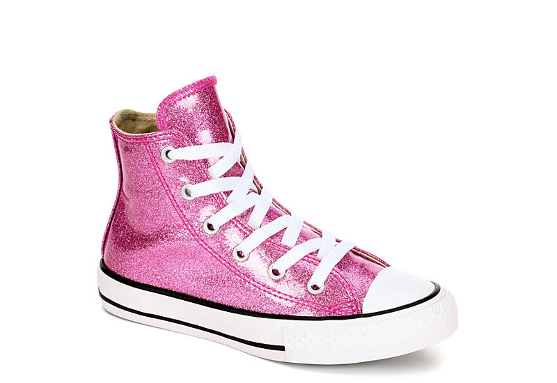 girls pink converse high tops