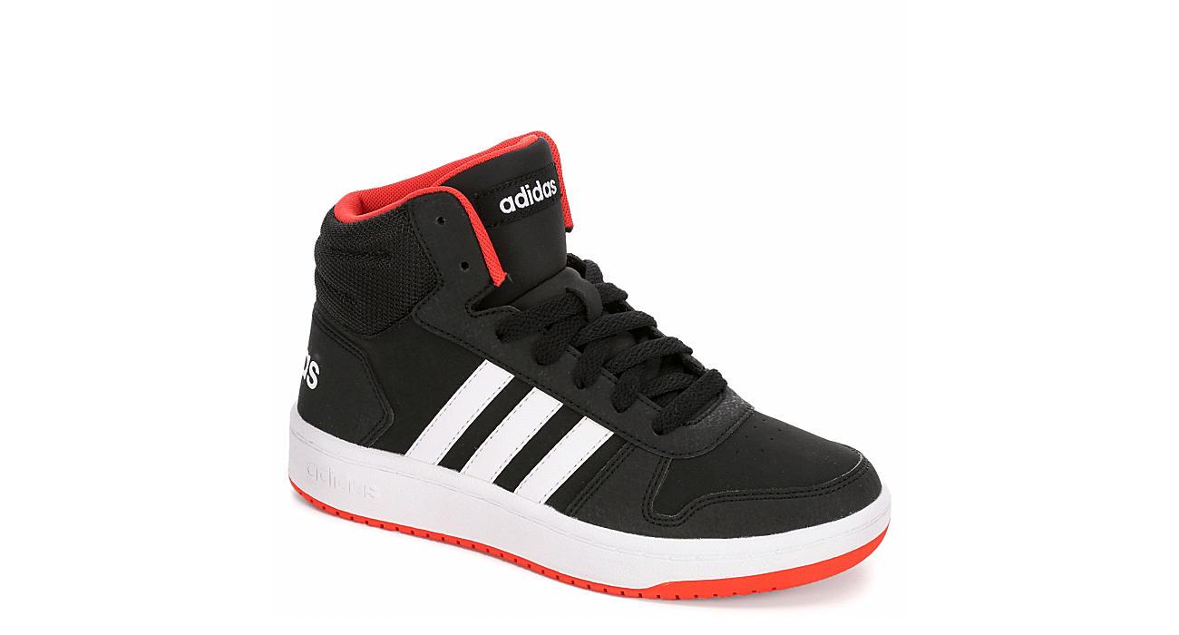 ADIDAS Boys Hoops 2.0 Mid Top Sneaker - BLACK