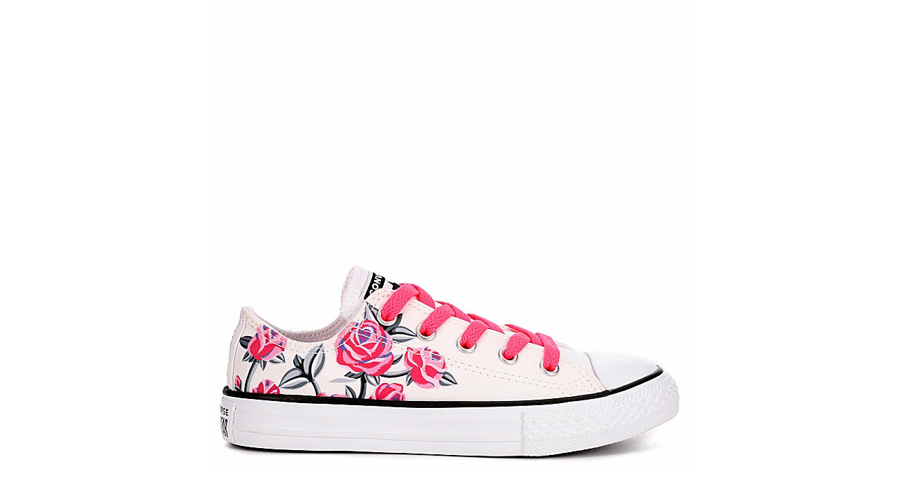 separation shoes 2ee3c 3d43b Converse Girls Ctas Pretty Strong Floral - White