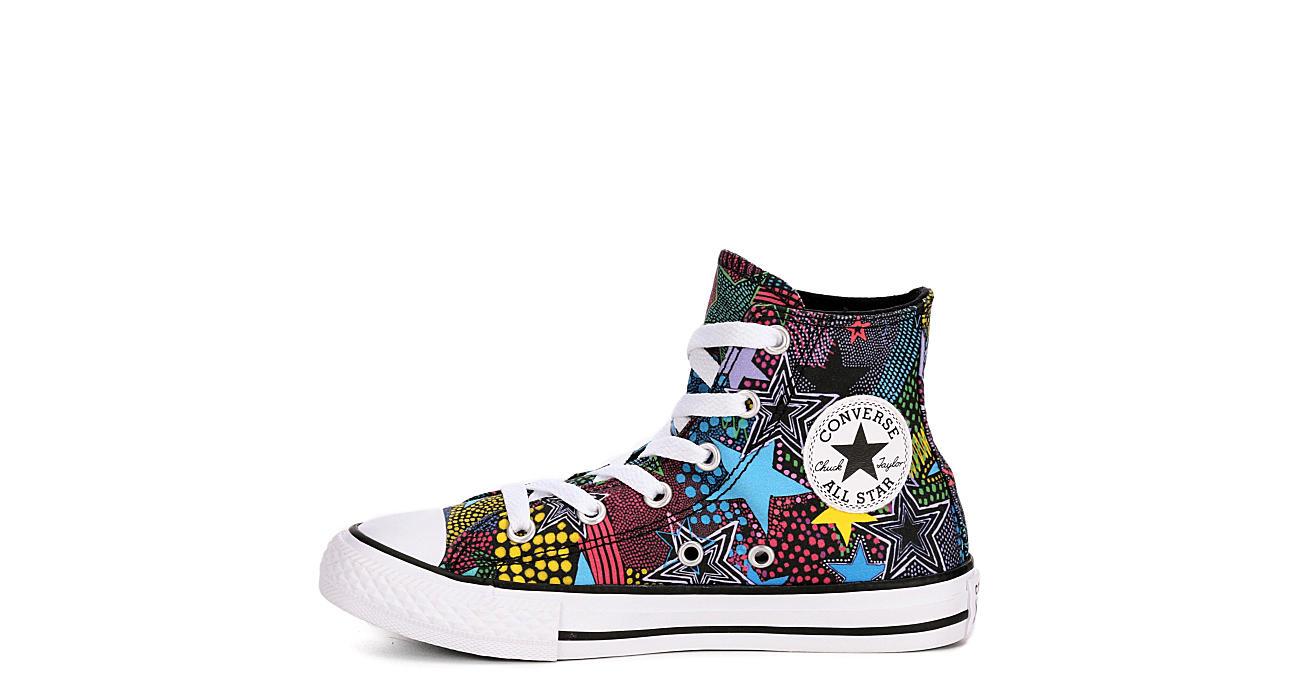 CONVERSE Girls Chuck Taylor All Star Hi Mosaic - BLACK