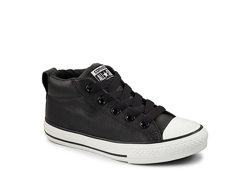 0fff0452536 Black Converse Boys Chuck Taylor All Star Street Mid
