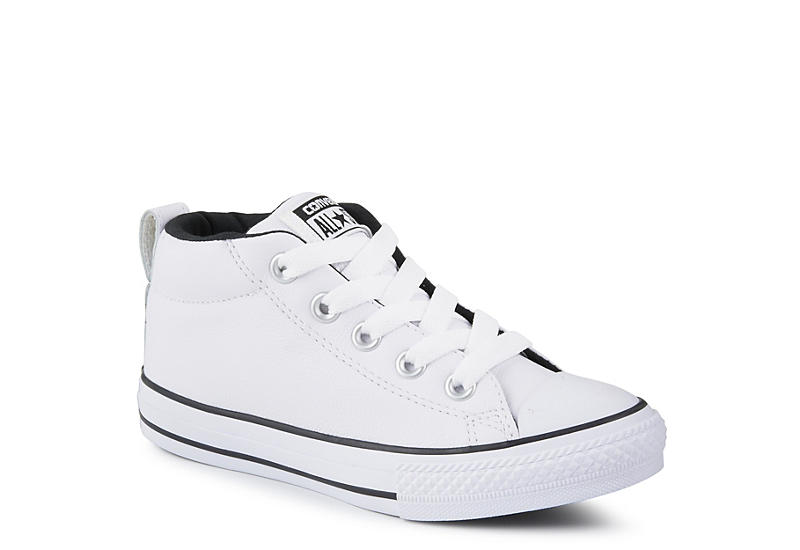 98754a1088e White Converse Boys Chuck Taylor All Star Street Mid