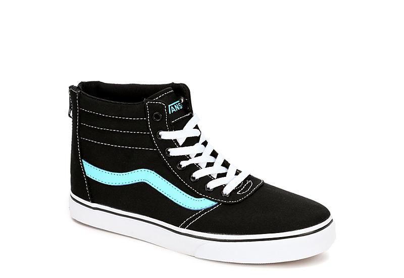 b3391c8398d Black Vans Girls Maddie Hi