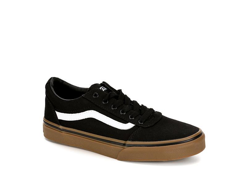 76438be02181e3 Black   Gum Vans Ward Boys  Low Top Sneakers